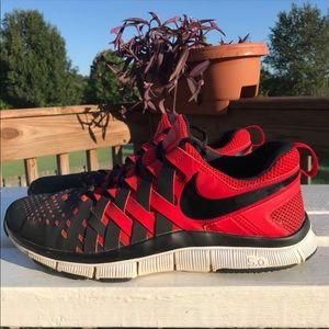 Nike Free Trainer 5.0 Black/Red Finger Trap Weave
